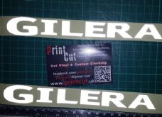 Gilera reflecive decals x2